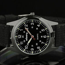 INFANTRY Herren Uhr Analog Armbanduhr Männer Sport Nylon Schwarz Outdoor Militär