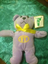 Cute Purple VT (Vermont) Teddy Bear