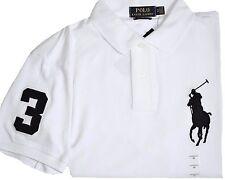 """NWT- POLO Ralph Lauren Big Pony Custom Fit Men's Polo Shirt - WHITE : S - 2XL"