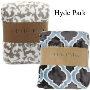"""NEW HYDE PARK VELVET THROW BY NORTHPOINT TRADING INC! VARIETY OF COLORS! 60""""x70"""""""