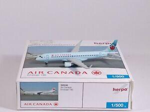 AIR CANADA Embraer ERJ E-190 C-FGLW Aircraft Model 1:500 Scale Herpa RARE