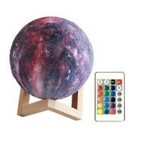 Neu 3D USB LED Magische Mond Nachtlicht Mondschein Tisch Schreibtisch Mond U8L0