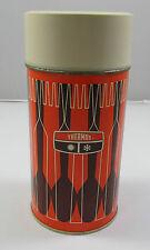 Vintage 1971 King-Seeley Orange Brown Metal 1 Pint/16 Oz Thermos #7263