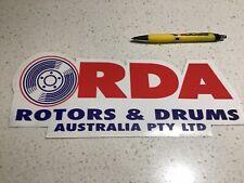 RDA RACING BRAKES STICKER,BIG,FREE POST FORD HOLDEN  MACK KENWORTH 4WD TRUCK CAR