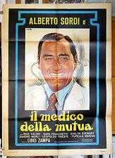 manifesto 2F film IL MEDICO DELLA MUTUA Alberto Sordi Luigi Zampa