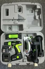 Kawasaki 19.2V 4 Piece Combo Kit - Circular Saw, Reciprocating Saw, Drill, Light