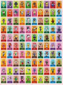 ANIMAL CROSSING AMIIBO SERIES 4 CARDS ALL CARDS 301 > 400 Nintendo Wii U Switch