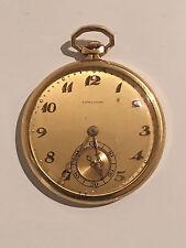 Antique Longines 18K Gold Pocket Watch 12S Caliber 17.95M Service!!! Running!!