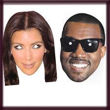 Kim Kardashian & Kanye West Celebrity Mascarilla Gallina Stag Party Fiesta De Disfraces