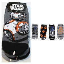 Star Wars Ladies No Show Ankle Socks MIX MATCH BB-8 & R2-D2 Rebel Insignia NWT