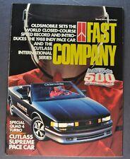 1988 Oldsmobile Cutlass Supreme Indy Pace Car Brochure Calais Ciera Original 88