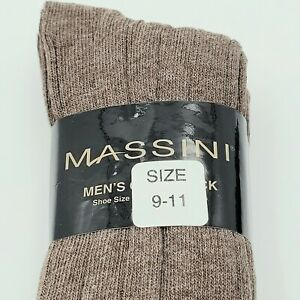 3-Pack Massini Men's Dress Socks Brown 9-11 New Old Stock Unopened Pack