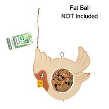Vogel Form Holz Zum Aufhängen Fatball / Frucht- Futterstelle für Vögel - Creme &