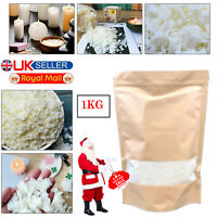 Wax Soy 1kg Soya Flakes 100 Pure Clean Burning Natural Candle Making 5kg No Soot