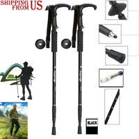 1 Pc Trekking Hiking Walking Sticks Poles Men Women Alpenstock 35-135cm black