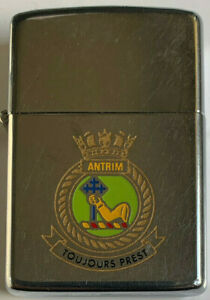 Zippo Lighter H.M.S Antrim 1978 Used