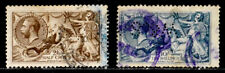 GREAT BRITAIN: 1919 CLASSIC STAMP COLLECTION PERFINS SCT#179,181 CV$235