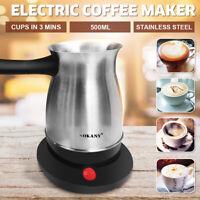 Electric Coffee Maker Moka Pot Espresso Turkish Greek Percolator Machine ❤ 600W