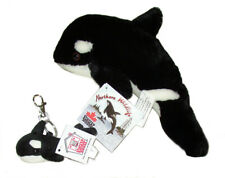 Orca Killer Whale Black White Plush Ocean Mammal and matching Keychain New