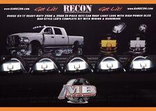 NEW WHITE OLED LED BAR Cab Roof Lights Smoked 2003-2017 Dodge Ram 3500 4500 5500