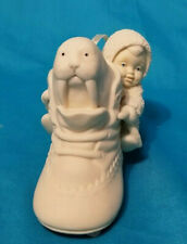 """Dept 56 Snowbabies """"Walrus Sitting in a Baby Shoe Ornament Retired Piece Pristin"""