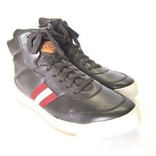 Y-1146999 New Bally Atilio Brwn Deer Hi-Top Sneakers Size US-11.5D Marked 10.5E