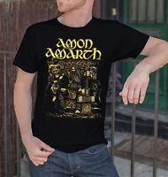 Amon Amarth Men Black T-Shirt Death Metal Band Tee Shirt Vikings Swedish Metal 4