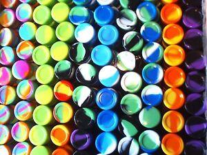 100 New 5ml silicone containers everyday storage Non-stick FDA Grade Jar free SH