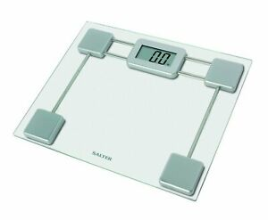 Salter Compact Glass Electronic Bathroom Scale 9081SV3R New RRP £25 🆓 P&P