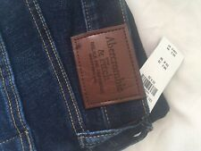 Abercrombie And Fitch Mens Athletic Skinny Jeans Dark Wash 32/30 BNWT