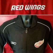 Detroit Red Wings Windbreaker Track Jacket NHL Hockey Mens Large Embroidered