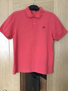 Fred Perry Polo Shirt Size Large Youth Chest 36-38 Inches