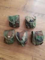 LOT OF 5  WOODLAND BDU CAMOUFLAGE GRENADE POUCHES - MOLLE II - Military