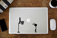 """Baloncesto Pegatina Vinilo Para Apple MacBook Aire/Pro Portátil 11"""" 12"""" 33cm"""