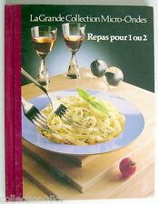 LIVRE DE 1987, REPAS POUR 1 OU 2, No.22 DE LA GRANDE COLLECTION MICRO-ONDES