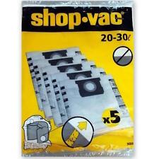 5 SHOP VAC VACUUM BAGS FOR 20L-30L MODELS K12-1300 K11-1300 K14-1400 PRO 20 25