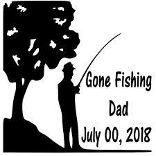 In Loving Memory Vinyl Decal Sticker Custom Dad Fishing Fish Car SUV Home Window