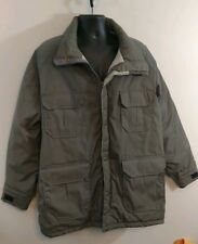 Vintage 80s Woolrich Mountain Parka Gray Mens Field Coat Jacket XL USA made