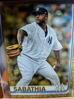 2019 Topps Series 2 CC SABATHIA GOLD PARALLEL Serial #'d 1510/2019 #486 YANKEES