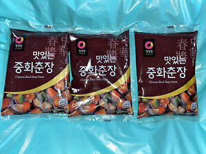 Chong Jung Won [청정원] Chinese Black Bean Paste, 8.82 Ounce [3 TOTAL] [맛있는 중화춘장]