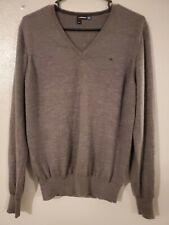 J. Lindeberg  100% Merino Wool  Gray  Thin V-neck sweater SIZE  XL