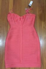 "BCBG Maxazria Dress ""Lillie"" Coral Reef Size 8 strapless short salmon color."