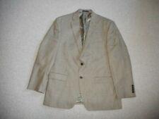 Mens Blazer-RALPH LAUREN-brown mini-check silk/wool blend lined two button-42R