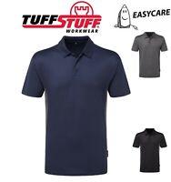 TUFFSTUFF Elite WORK Play Easy Care POLO SHIRT, Black, Grey, Blue - S,M,L,XL,2XL