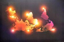 Led Bild Weltkarte 60*40 cm mit 8 Led Leuchten Canvas Xl Leuchtbild Wandbild neu