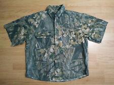 Mossy Oak Camo Classics Shirt Men M Hunting Western Short Sleeve Button Vintage