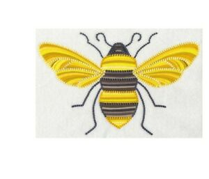 GARDEN BREEZE BEE  HAND TOWEL SET CUSTOM EMBROIDERED