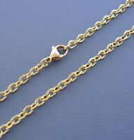 One Stainless Steel Ball Chain with Lobster clasp Necklace Dog Tag 2.3mm  n31