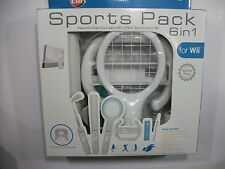 Wii SPORTS ACCESSORY PACK 6 Piece Bundle Remote Accessories Nintendo NIB