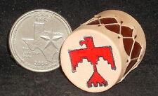 Miniature Southwest Native American Indian Drum w/ Thunderbird Motif 1:12